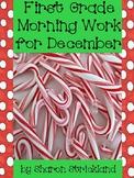 First Grade Morning Work for December