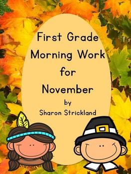 First Grade Morning Work for November