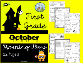 First Grade Morning Work for October