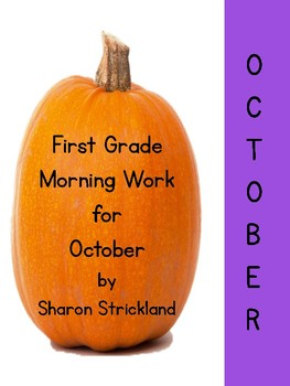 First Grade Morning Work for October