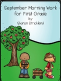 First Grade Morning Work for September