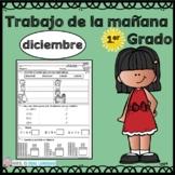 First Grade Morning Work in Spanish December