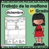 First Grade Morning Work in Spanish December