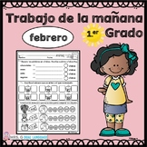 First Grade Morning Work in Spanish February