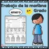 First Grade Morning Work in Spanish January