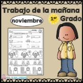First Grade Morning Work in Spanish November