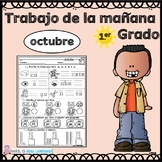 First Grade Morning Work in Spanish October