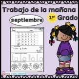 First Grade Morning Work in Spanish September