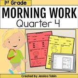 First Grade Morning Work 4th Quarter Spiral Review digital with Google Slides