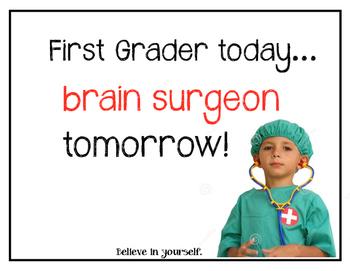 First Grade Motivational Signs