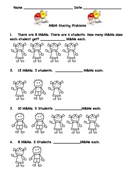 First Grade Multiplication and Division Word Problems