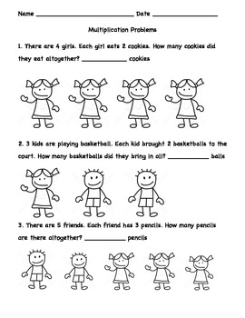 First Grade Multiplication and Division Word Problems by Shana Kass