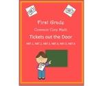 First Grade NBT Math Common Core 6 Tickets out the Door