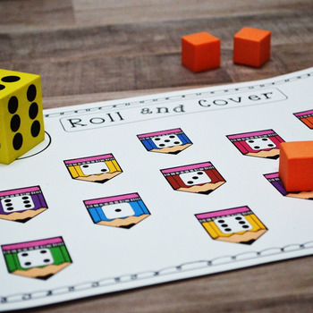 First Grade NEW Math TEKS 1.2A & 1.2C: 36 Roll and Cover Game Mega Bundle