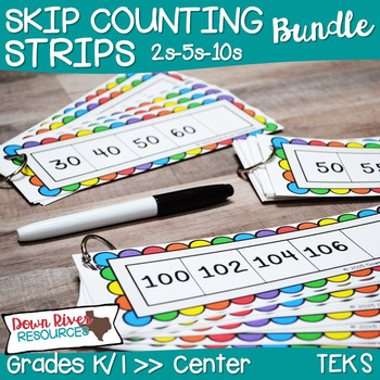 First Grade NEW Math TEKS 1.5B: Skip Counting Number Strip