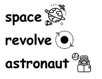 First Grade NGSS Space Systems Vocabulary Cards