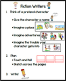 First Grade Fictional Narrative Poster Lucy Calkins