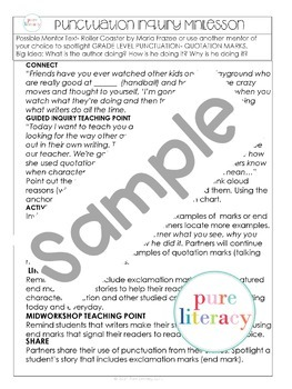 First Grade Narrative Mentor Inquiry Study for Writing Workshop