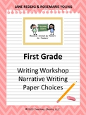 First Grade Personal Narrative Writing Paper (Lucy Calkins Inspired)