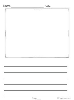 First Grade Narrative Writing Paper Pack