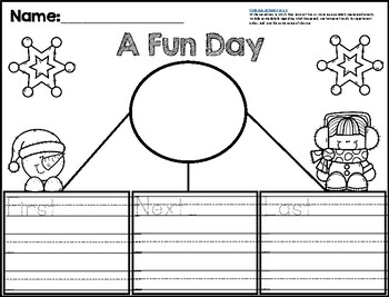 """First Grade Narrative Writing Prompt - """"A Fun Day"""""""