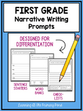 First Grade Narrative Writing Prompts For Differentiation