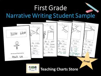 First Grade Narrative Writing Student Writing Sample