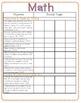 First Grade National Common Core Checklist