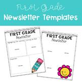 First Grade Newsletter Template