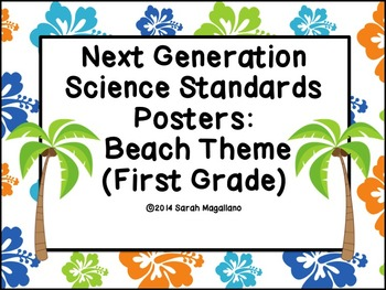 Next Generation Science Standards Posters (First Grade): Beach Theme