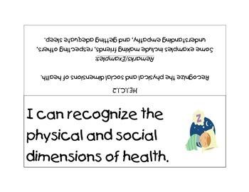 First Grade Next Generation Sunshine State Standards for Health Literacy