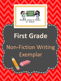 First Grade Non-Fiction Writing Exemplar