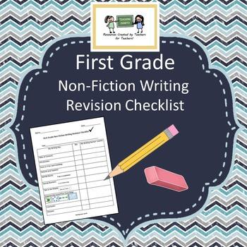 First Grade Non-Fiction Writing Revision Checklist