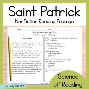 Saint Patrick Nonfiction Comprehension Passage