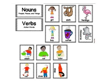 First Grade Noun and Verb Sort