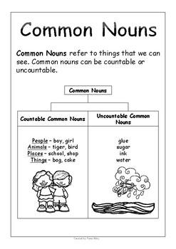 First Grade Nouns No Prep Printables - Free