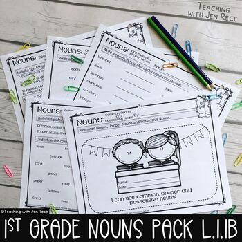 Common Core First Grade Nouns - Proper, Common & Possessive  {L.1.1B}