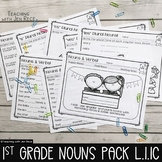 Common Core First Grade: Singular and Plural Nouns with Matching Verbs  {L.1.1C}