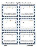First Grade Number Line Task Cards - 1.NBT.A.1, 1.OA.C.6,