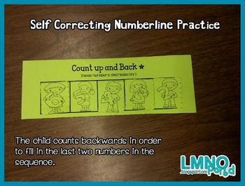 First Grade Number Lines (Counting Up and Back)
