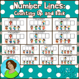 First Grade Number Lines to 10 (Counting Up and Back)