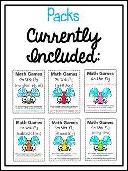 First Grade Number Math Games BUNDLE