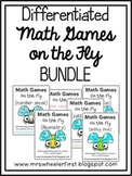 First Grade Number Math Games BUNDLE