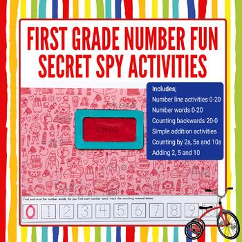 First Grade Number Math   Secret Spy Find & Seek Number Fun Activity Pack
