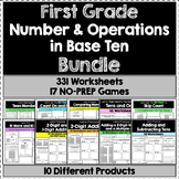 First Grade Number & Operations In Base Ten BUNDLE - 331 W