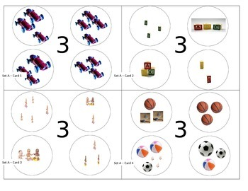 First Grade Number Sense Elimination Cards (with pictures 3-4)