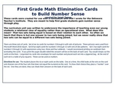 First Grade Number Sense Elimination Cards (with pictures 3-6)