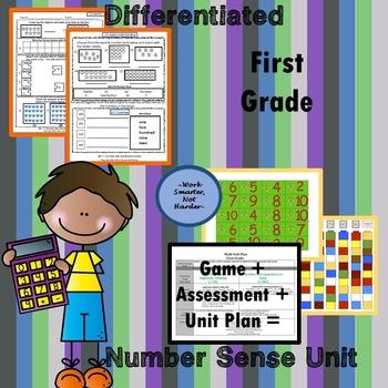 First Grade Number Sense Unit Kit