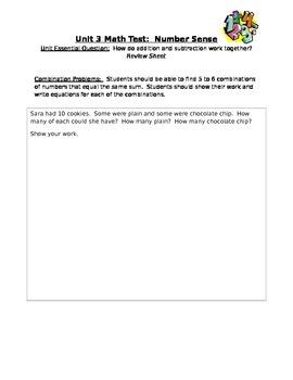 First Grade Number Sense Unit Review