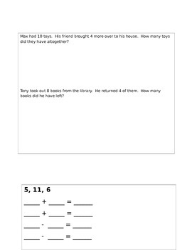 First Grade Number Sense Unit Review